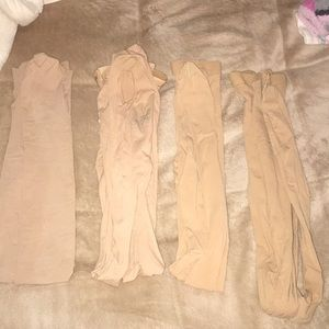 Bundle of 4 nude tights
